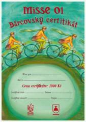 Dárcovský certifikát v hodnotě 1000,– Kč / MISSE 01